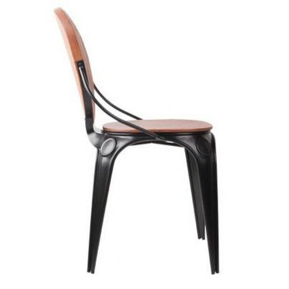 Chaises tables et chaises zuiver chaise louix noire inside75 for Chaise zuiver