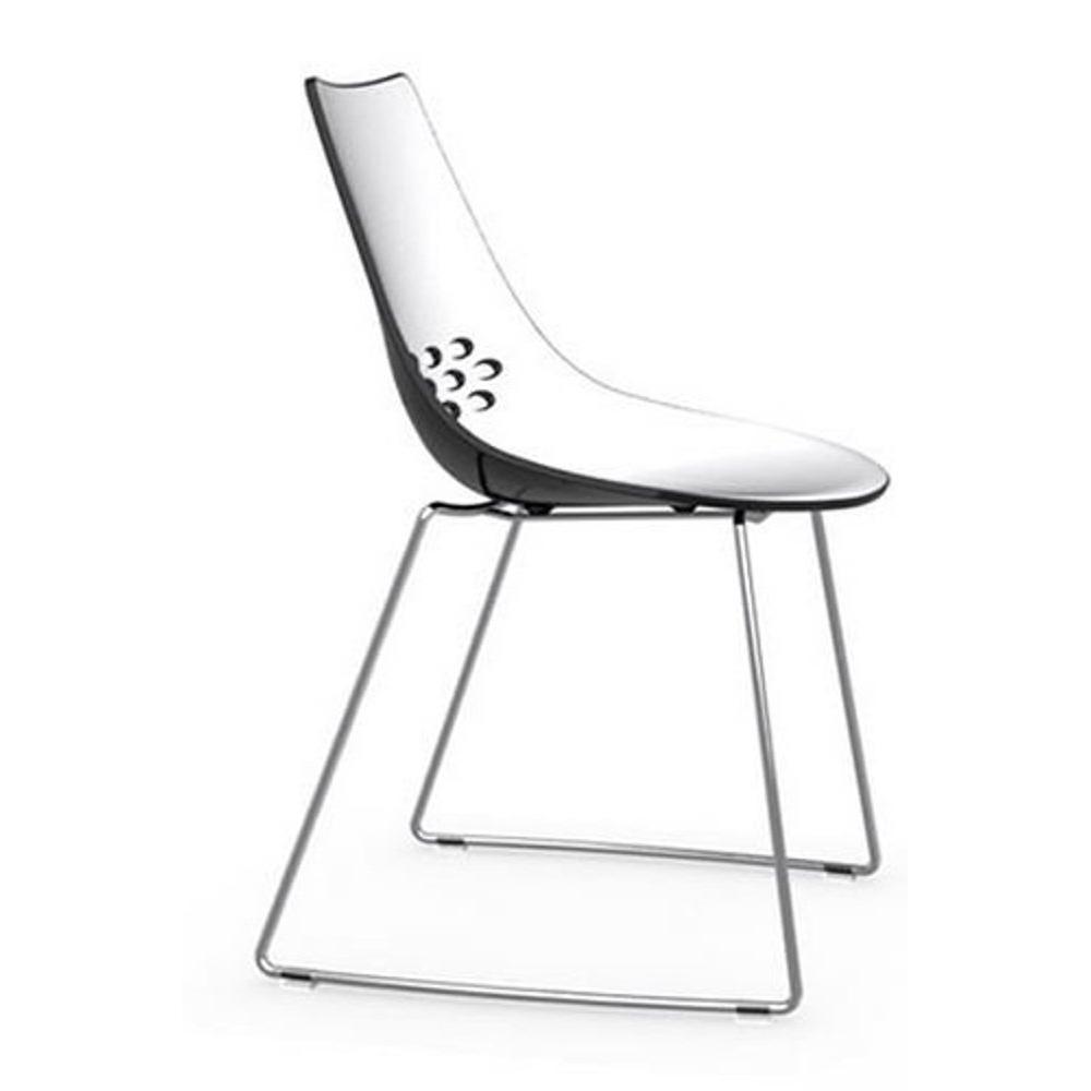 Chaises tables et chaises calligaris chaise design jam - Chaise noir et blanche ...