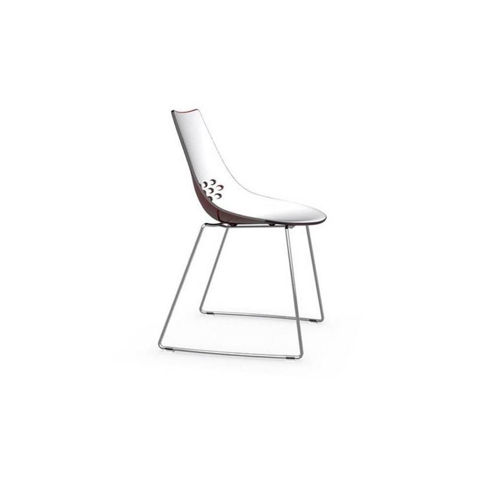 Chaises tables et chaises calligaris chaise design jam pi tement luge assis - Chaise rouge transparente ...