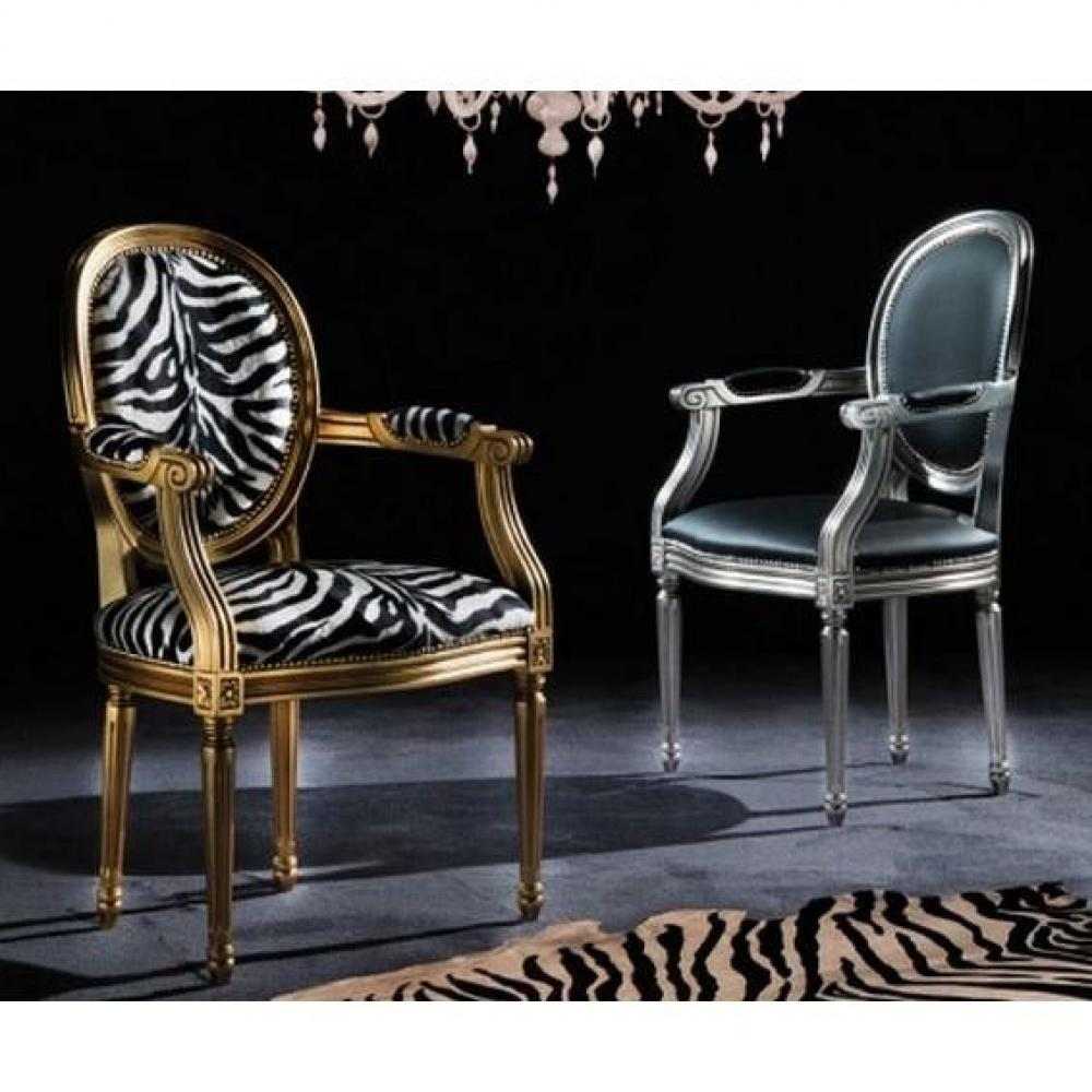 chaises tables et chaises chaise medaillon cleopatra argent et tissu enduit polyur thane. Black Bedroom Furniture Sets. Home Design Ideas