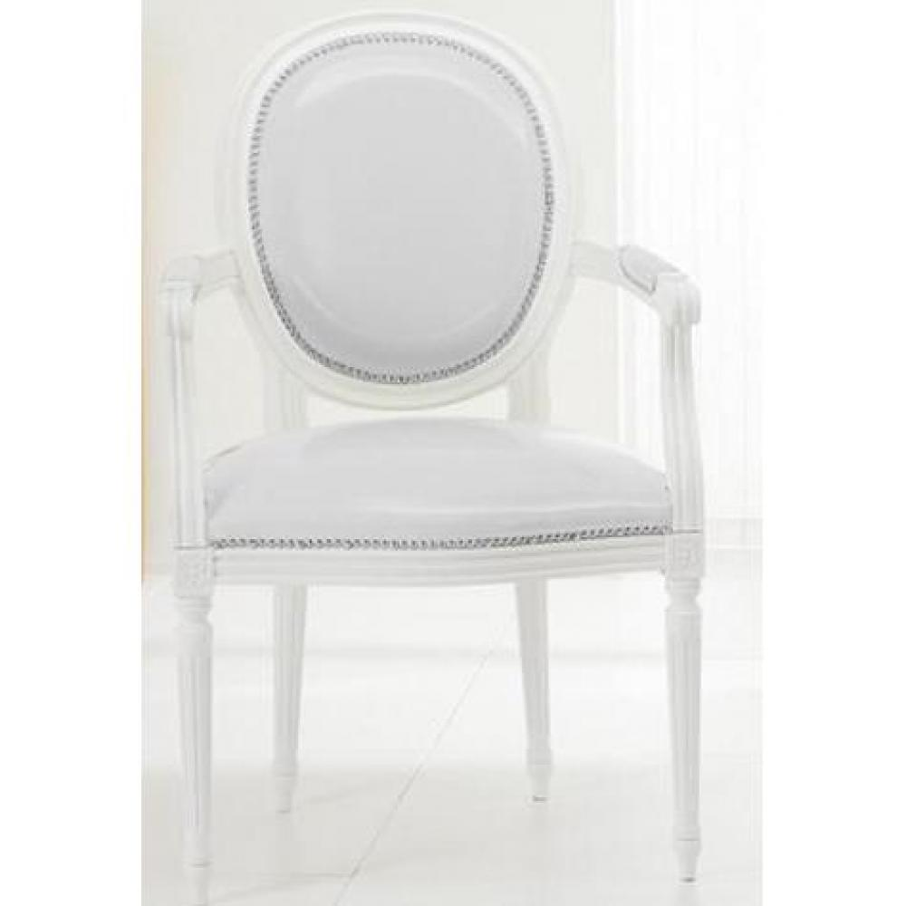 Chaises tables et chaises chaise medaillon cleopatra en for Chaise medaillon cuir