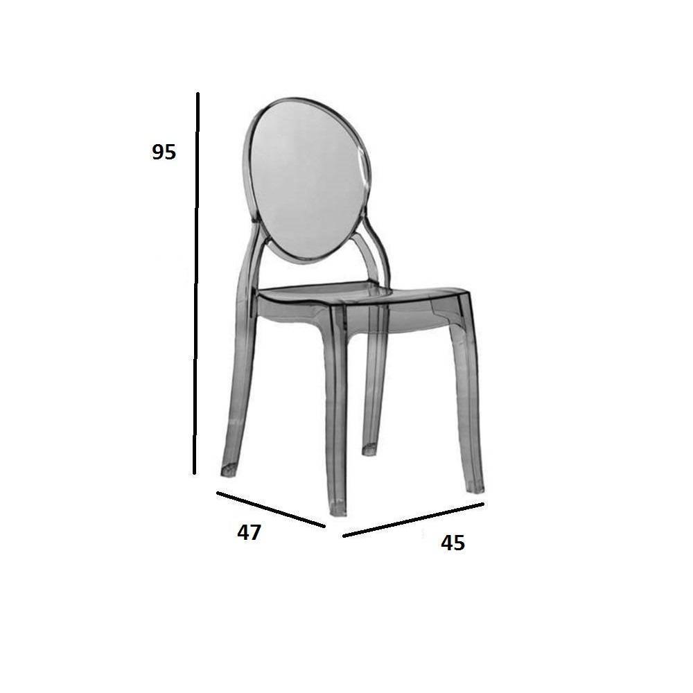 chaises meubles et rangements chaise design imp ratrice en polycarbonate transparent fum. Black Bedroom Furniture Sets. Home Design Ideas