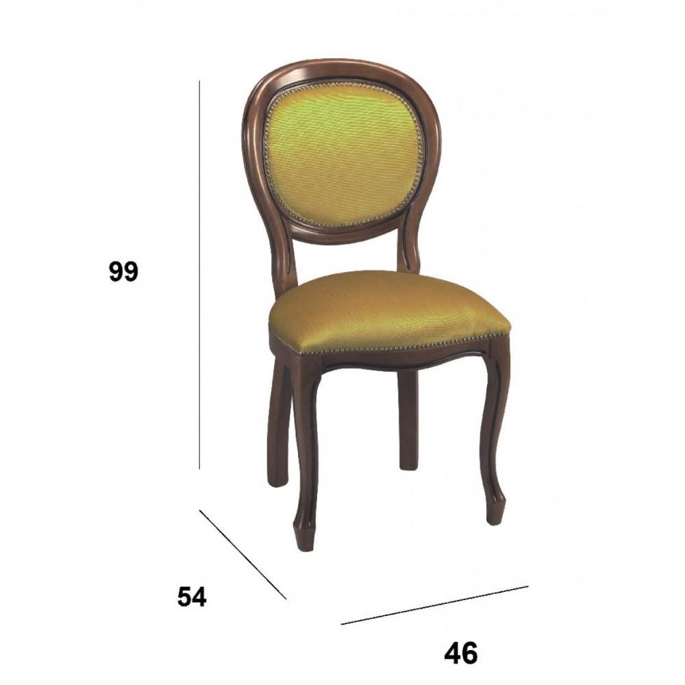 Chaises tables et chaises chaise m daillon marus merisier et velours couleu - Chaise medaillon velours ...