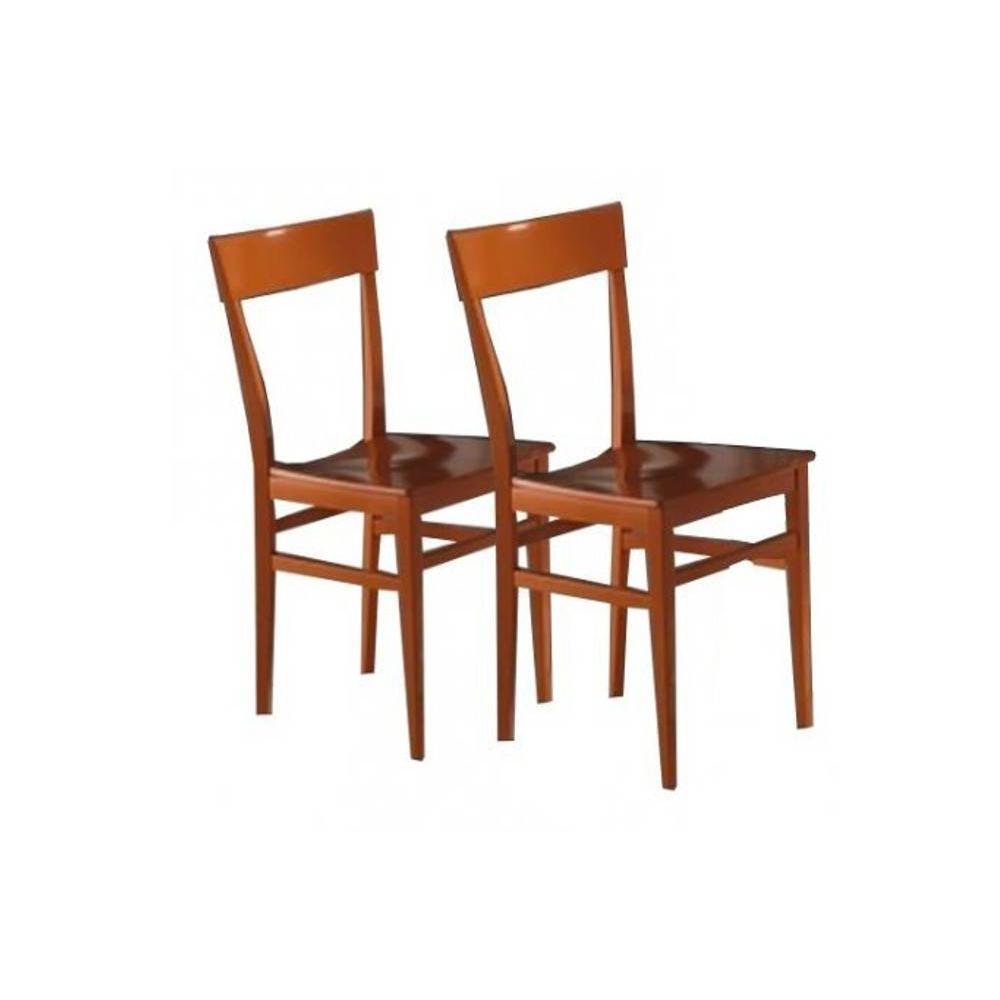 chaises tables et chaises lot de 2 chaises navigli en h tre laque orange brillante inside75. Black Bedroom Furniture Sets. Home Design Ideas