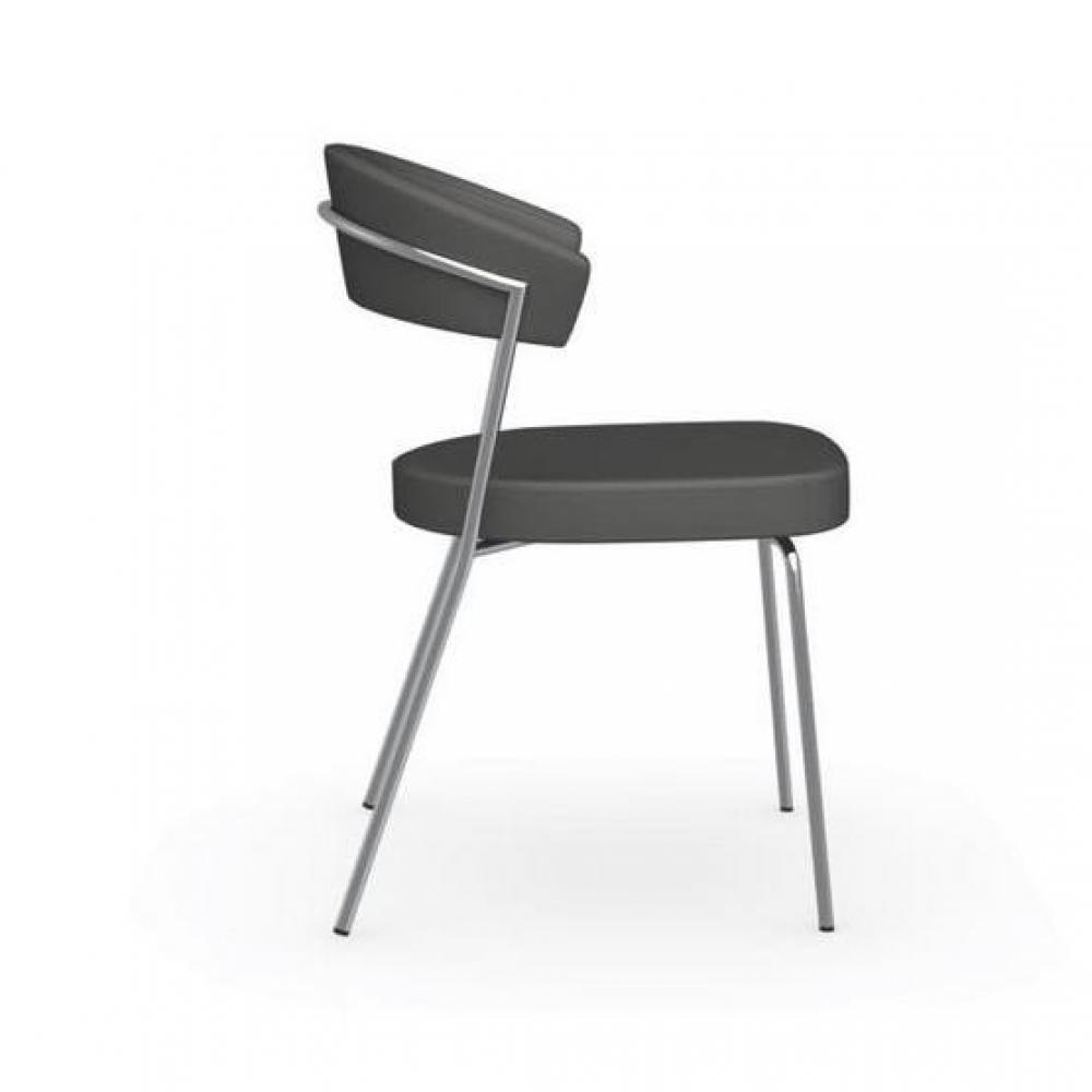 chaises tables et chaises calligaris chaise italienne design new york structure acier chrom. Black Bedroom Furniture Sets. Home Design Ideas