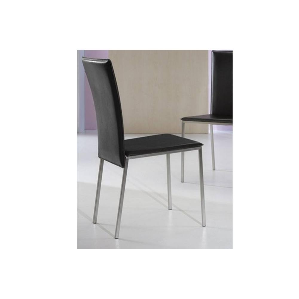 Chaises tables et chaises chaise new york en tissu for Chaise metal noir