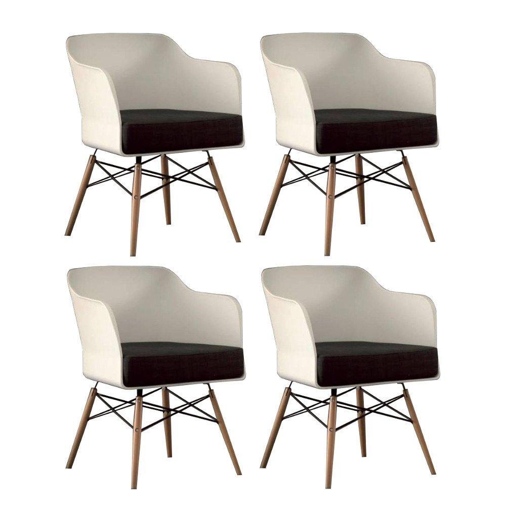 Chaises tables et chaises chaise design nordika blanche - Chaise design blanche et bois ...