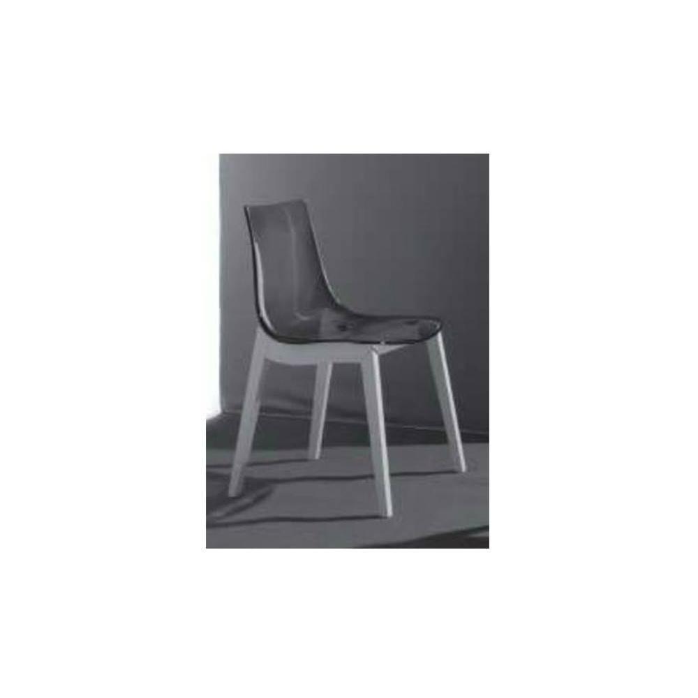 chaises tables et chaises chaise design orbital wood plexiglas fum et h tre laqu blanc. Black Bedroom Furniture Sets. Home Design Ideas