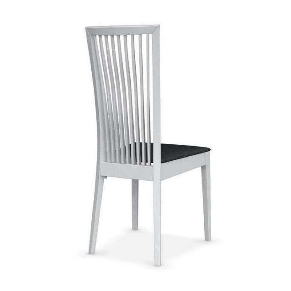 chaises tables et chaises calligaris chaise philadelphia blanche assise tissu noir inside75. Black Bedroom Furniture Sets. Home Design Ideas