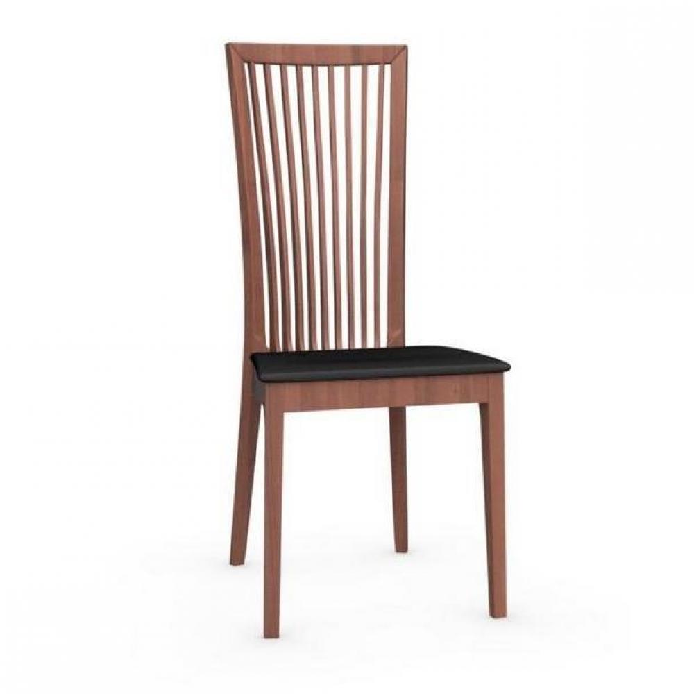 chaises tables et chaises calligaris chaise philadelphia structure noyer assise tissu noir. Black Bedroom Furniture Sets. Home Design Ideas
