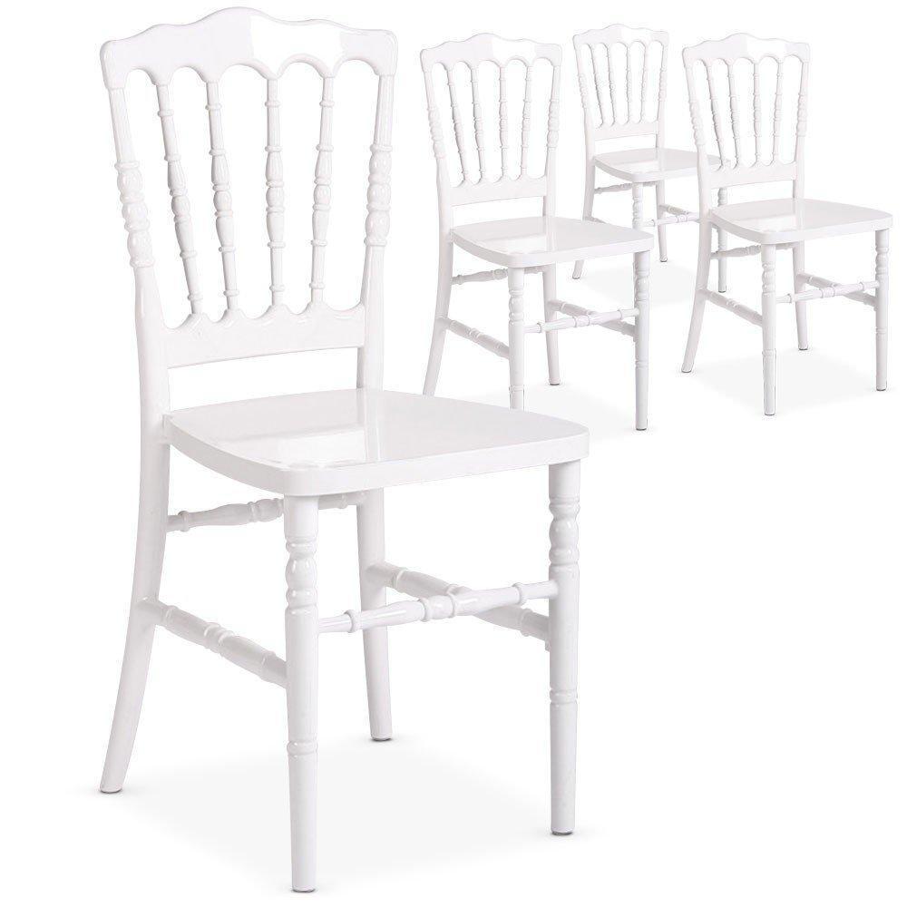 Chaises tables et chaises lot de 4 chaises charlemagne for Chaise en plexiglass