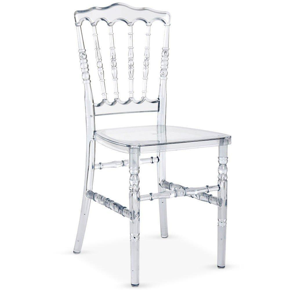 chaises tables et chaises lot de 4 chaises charlemagne en plexiglass transparent inside75. Black Bedroom Furniture Sets. Home Design Ideas