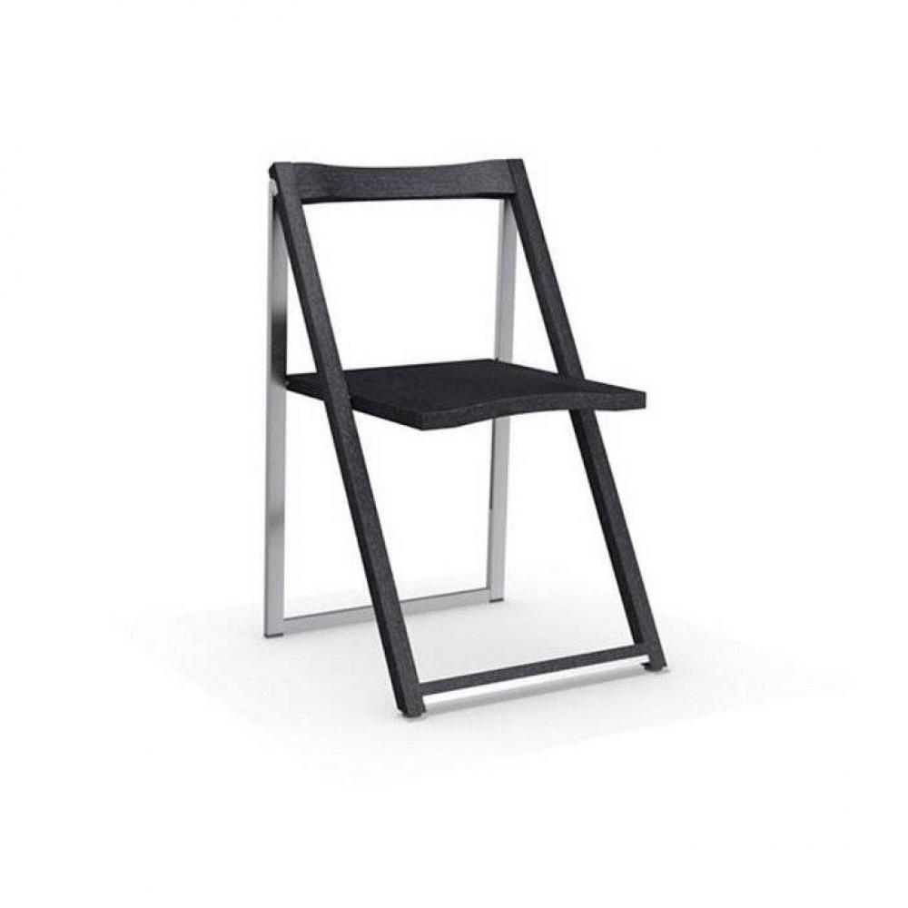 CALLIGARIS Chaise pliante SKIP graphite et aluminium satiné