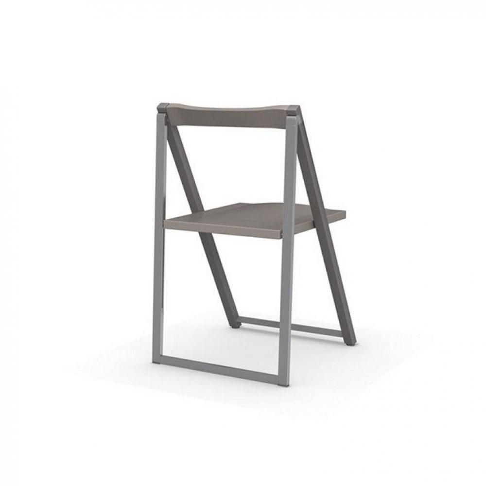 chaises pliantes tables et chaises calligaris chaise pliante skip gr ge et aluminium satin. Black Bedroom Furniture Sets. Home Design Ideas