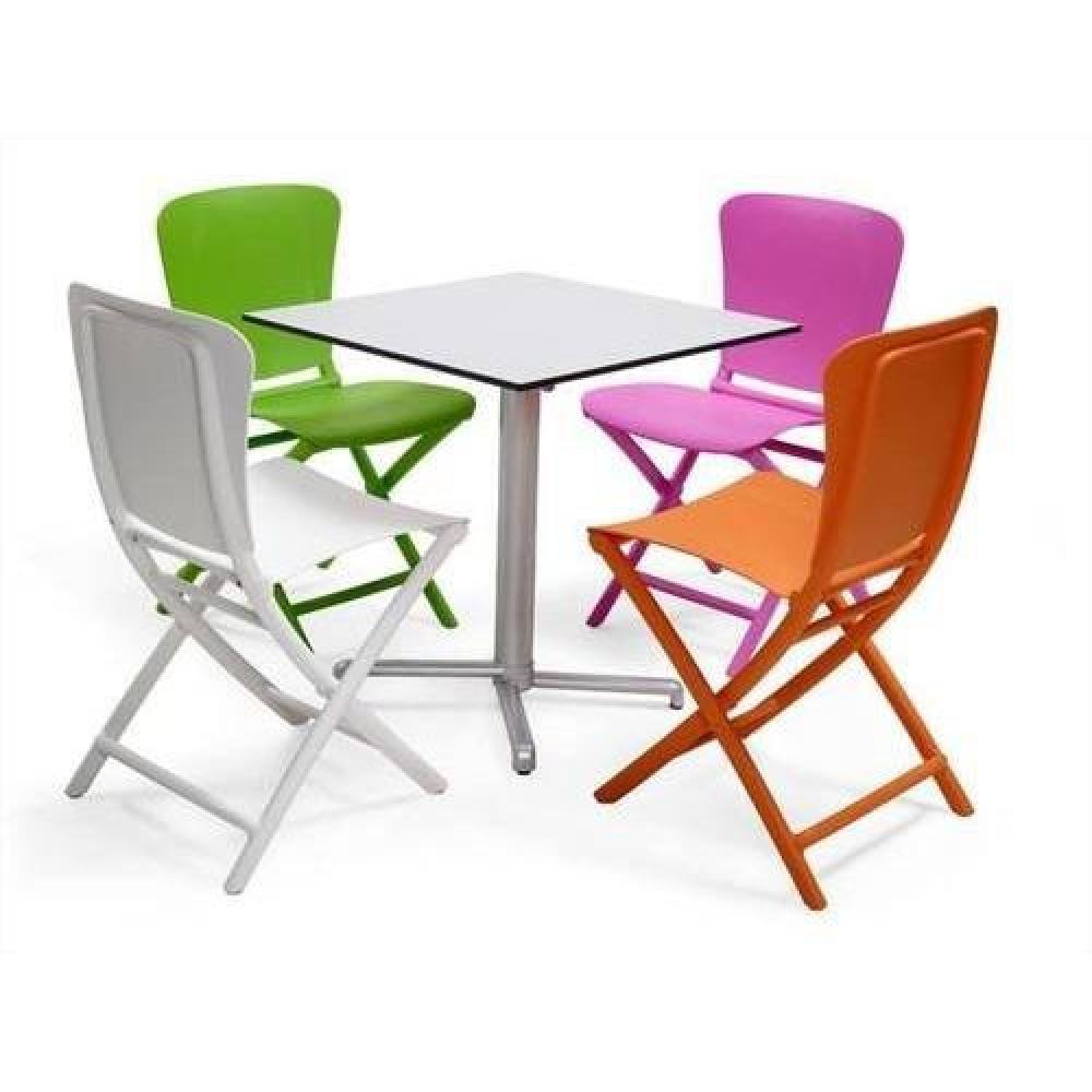 chaises pliantes tables et chaises lot de 2 chaises pliante zak design blanc inside75. Black Bedroom Furniture Sets. Home Design Ideas