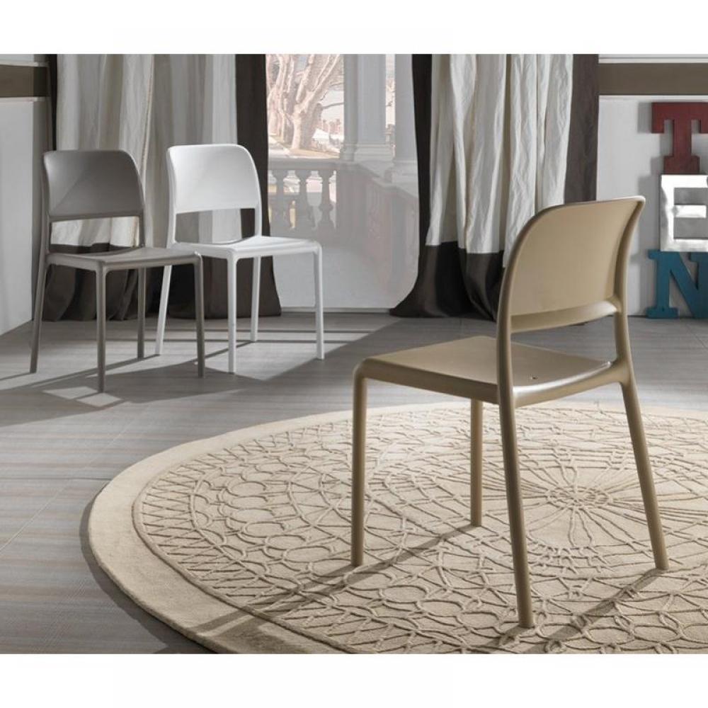 Chaises tables et chaises lot de 2 chaises river - Chaises empilables design ...