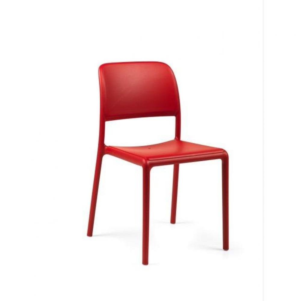 Chaises tables et chaises lot de 2 chaises river empilables design rouge - Chaises empilables design ...
