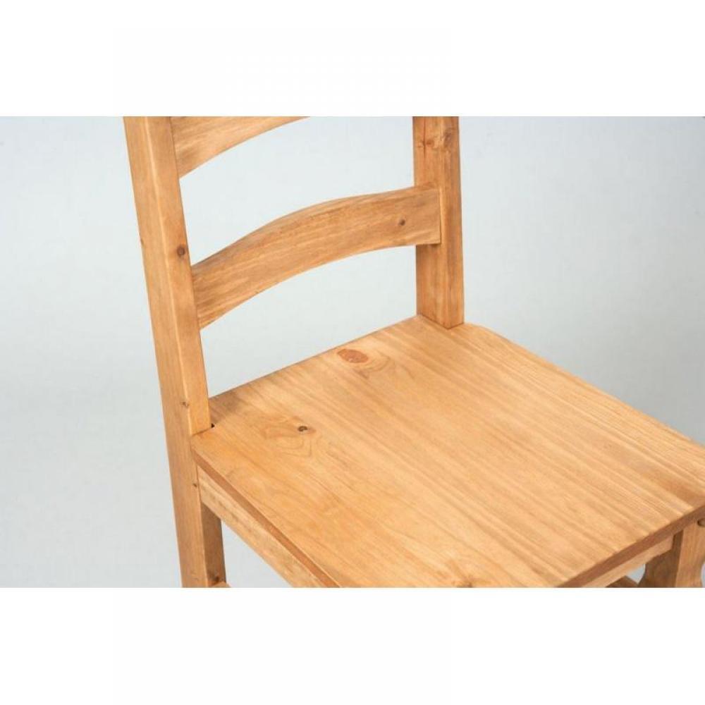 Lot de 2 chaises rustiques mex en bois massif for Chaise bercante en bois massif