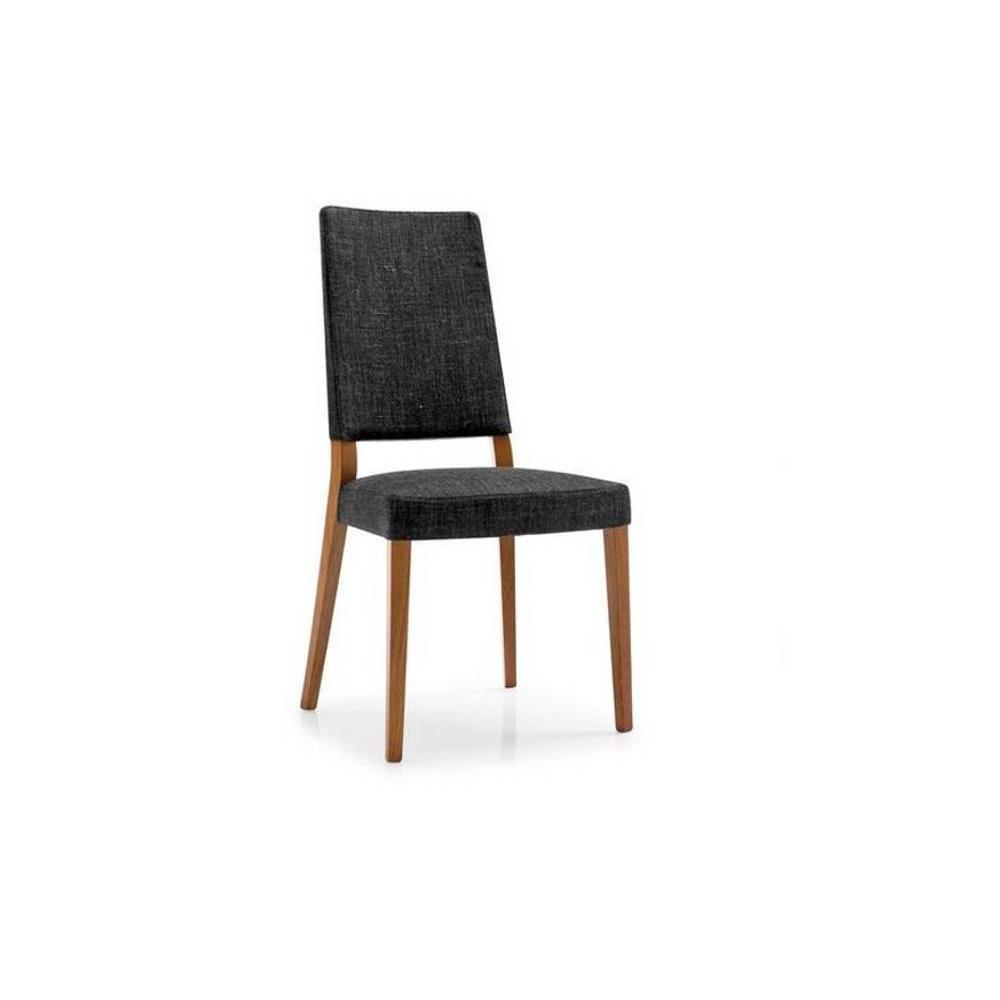 Chaises tables et chaises calligaris chaise sandy noyer for Chaise noire tissu