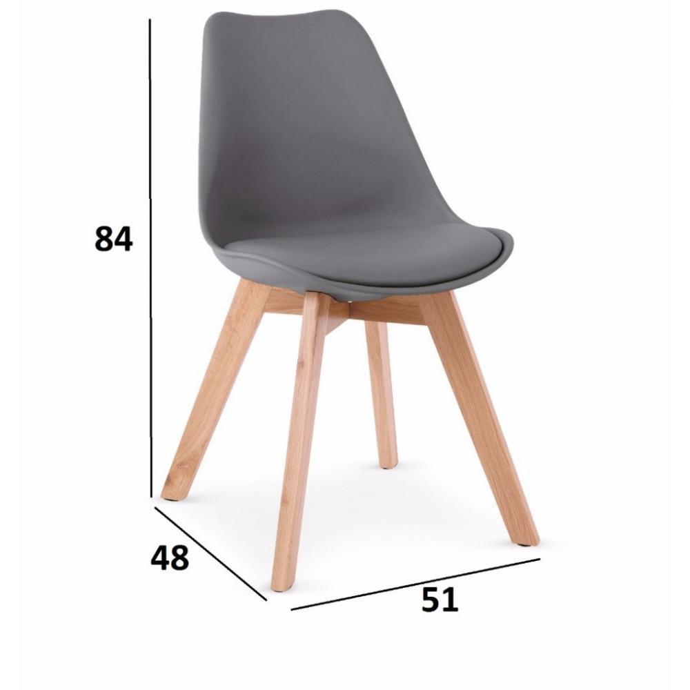 Chaises tables et chaises chaise oslo grise design scandinave pi tement en - Chaises design scandinave ...