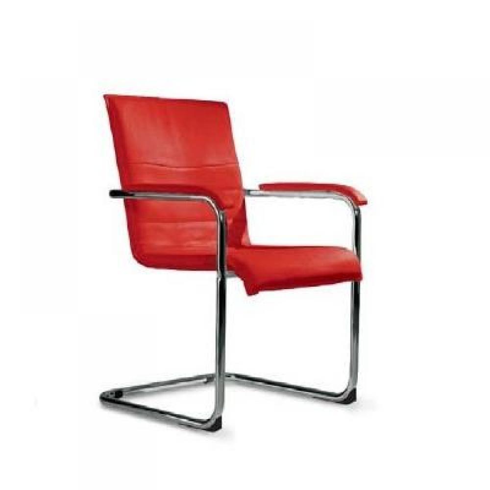 Chaises tables et chaises chaise cubika design en tissu enduit polyur thane - Chaise en cuir rouge ...