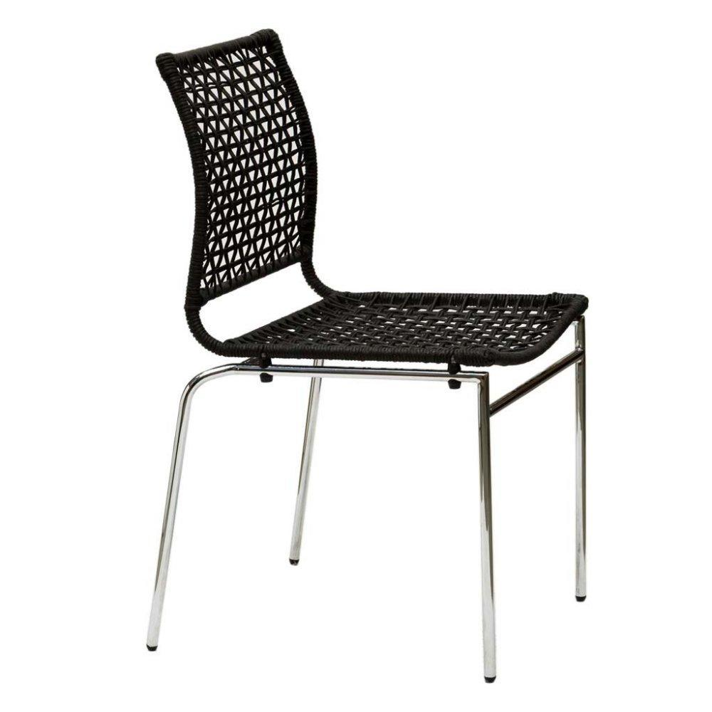 Chaises tables et chaises chaise korda design noir for Chaise noir design