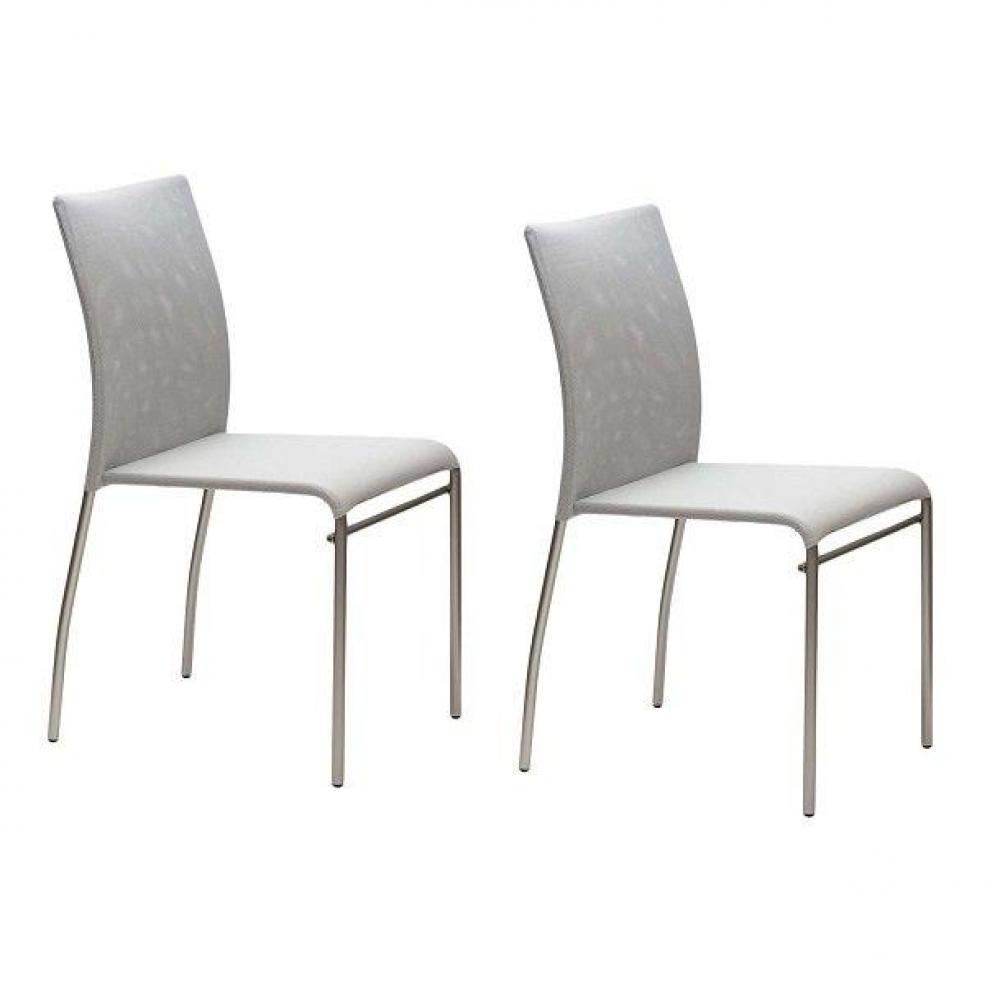 chaises tables et chaises lot de 2 chaises matrix design. Black Bedroom Furniture Sets. Home Design Ideas