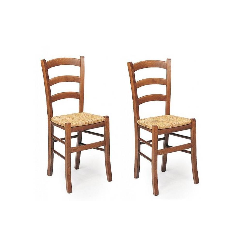 Chaises tables et chaises lot de 2 chaises paesana for Assise chaise paille
