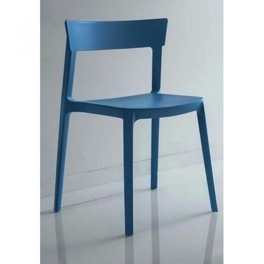 chaises tables et chaises chaise design calligaris skin en plastique bleu inside75. Black Bedroom Furniture Sets. Home Design Ideas