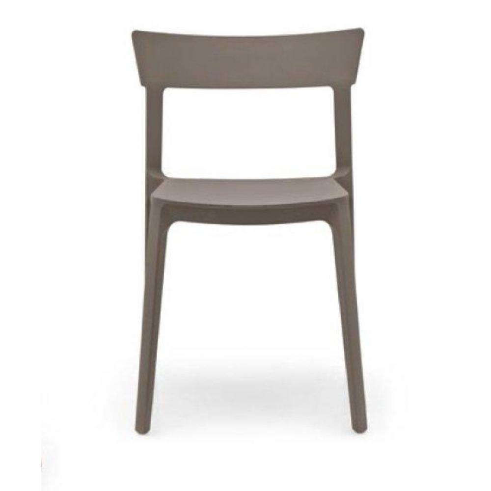 chaises tables et chaises chaise design calligaris skin en plastique taupe inside75. Black Bedroom Furniture Sets. Home Design Ideas