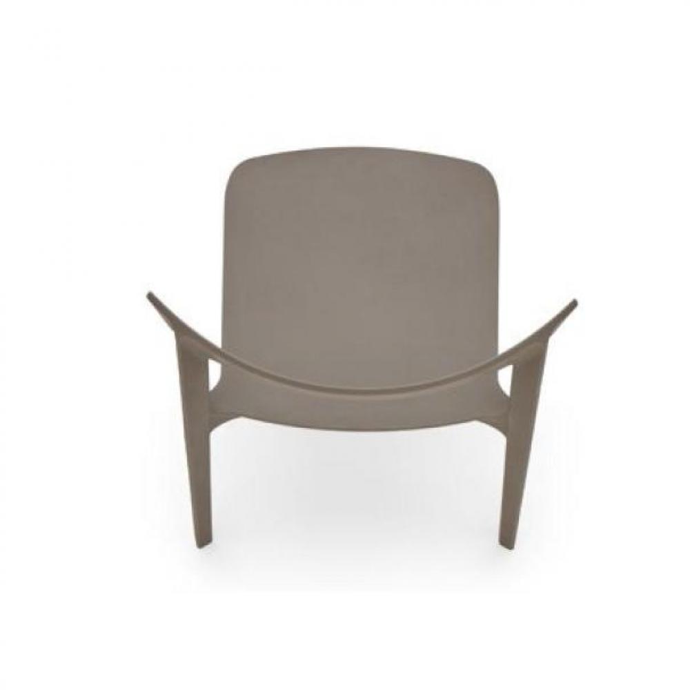 chaises meubles et rangements chaise design calligaris skin en plastique taupe inside75. Black Bedroom Furniture Sets. Home Design Ideas