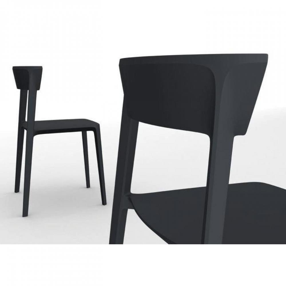 chaises meubles et rangements chaise design calligaris skin en plastique noir inside75. Black Bedroom Furniture Sets. Home Design Ideas