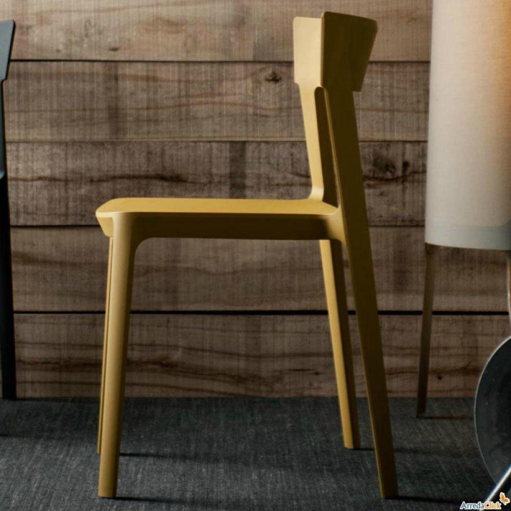 chaises meubles et rangements chaise design calligaris skin en plastique moutarde inside75. Black Bedroom Furniture Sets. Home Design Ideas