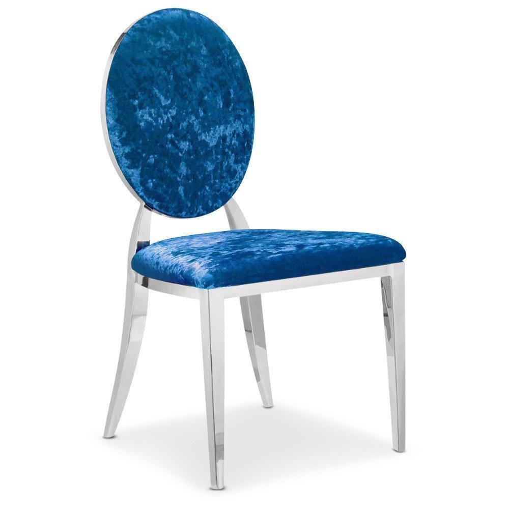 rapido convertibles canap s syst me rapido lot de 2 chaises cassandra en velours bleu. Black Bedroom Furniture Sets. Home Design Ideas