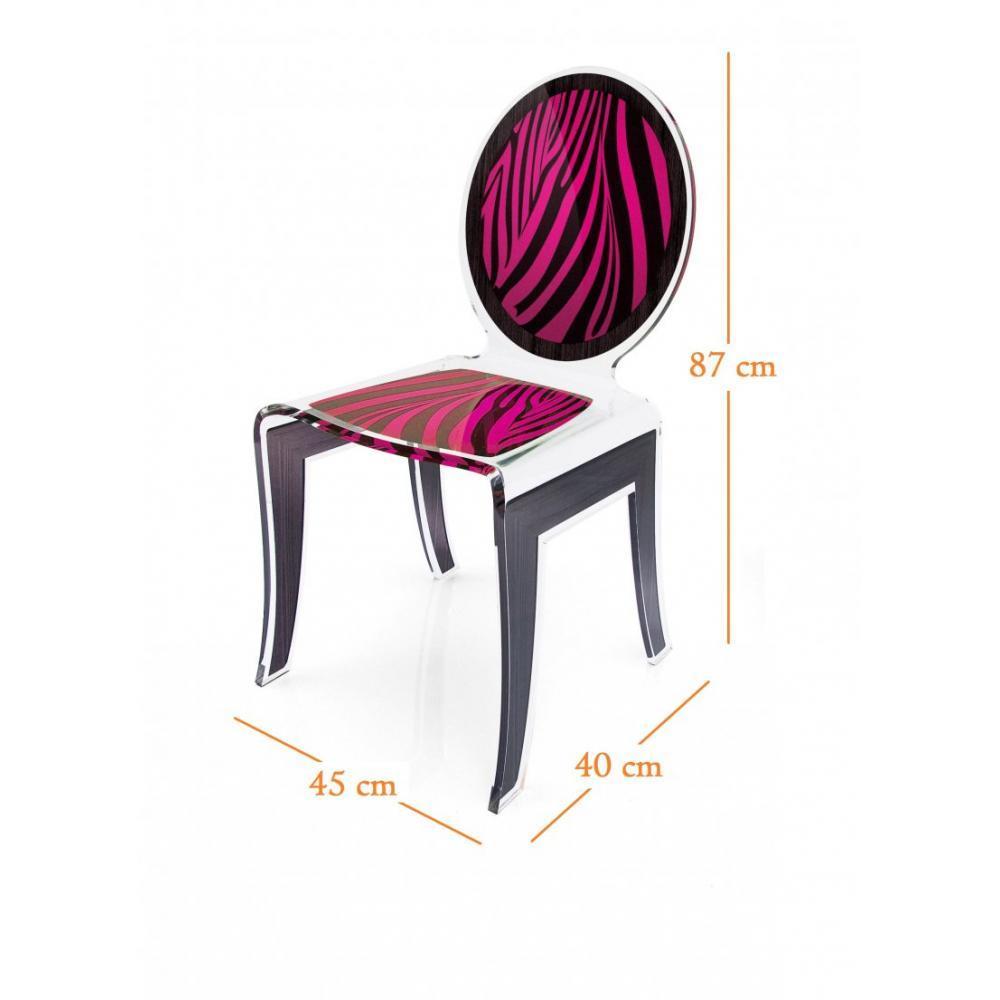 chaises meubles et rangements wild chaise design en plexi z br e noir rose par acrila. Black Bedroom Furniture Sets. Home Design Ideas