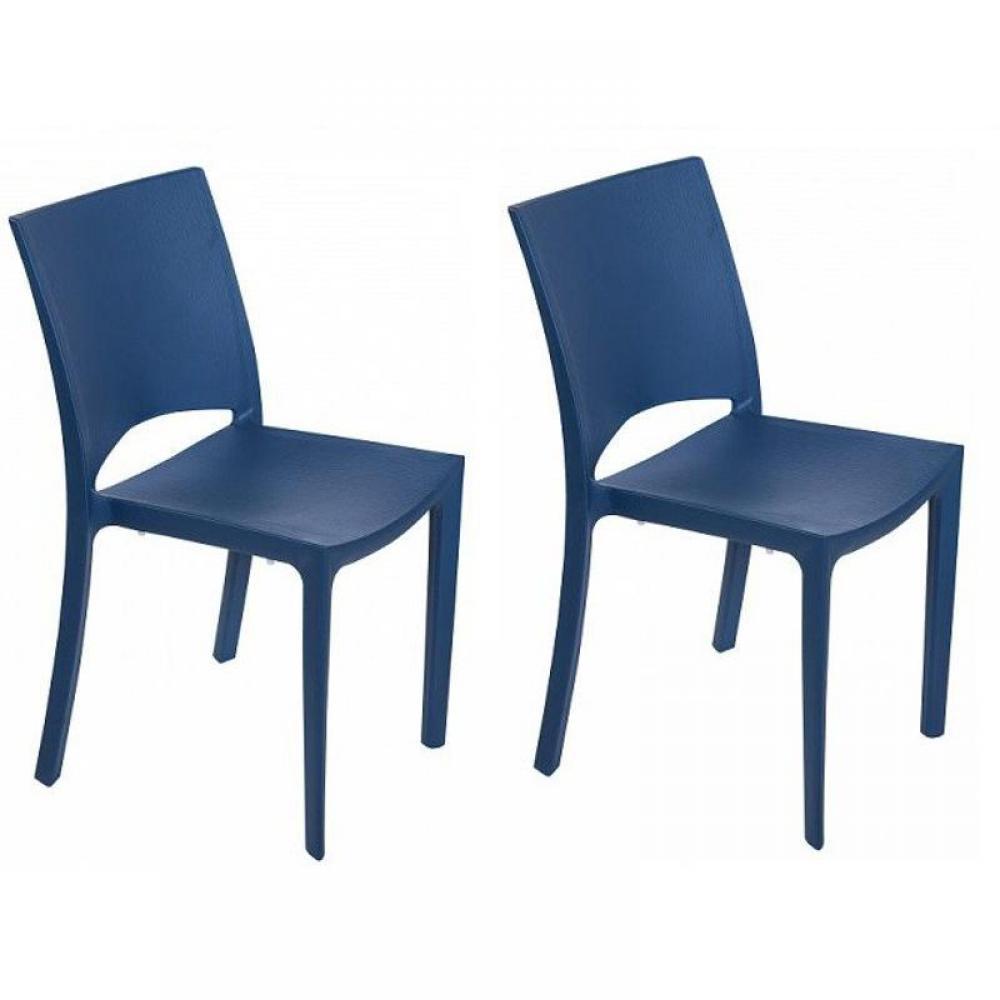 chaises tables et chaises lot de 2 chaises woody empilables design bleu inside75. Black Bedroom Furniture Sets. Home Design Ideas