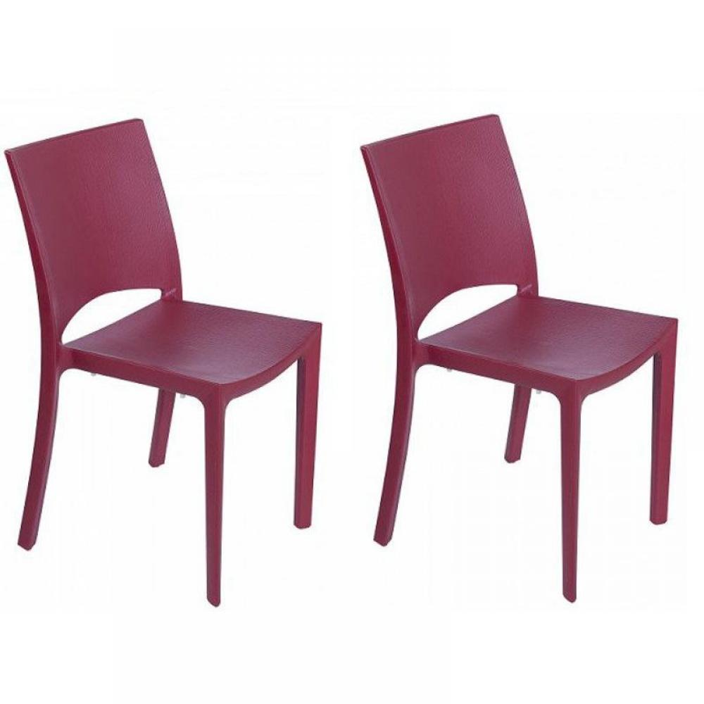 chaises meubles et rangements lot de 2 chaises woody empilables design bordeaux inside75. Black Bedroom Furniture Sets. Home Design Ideas