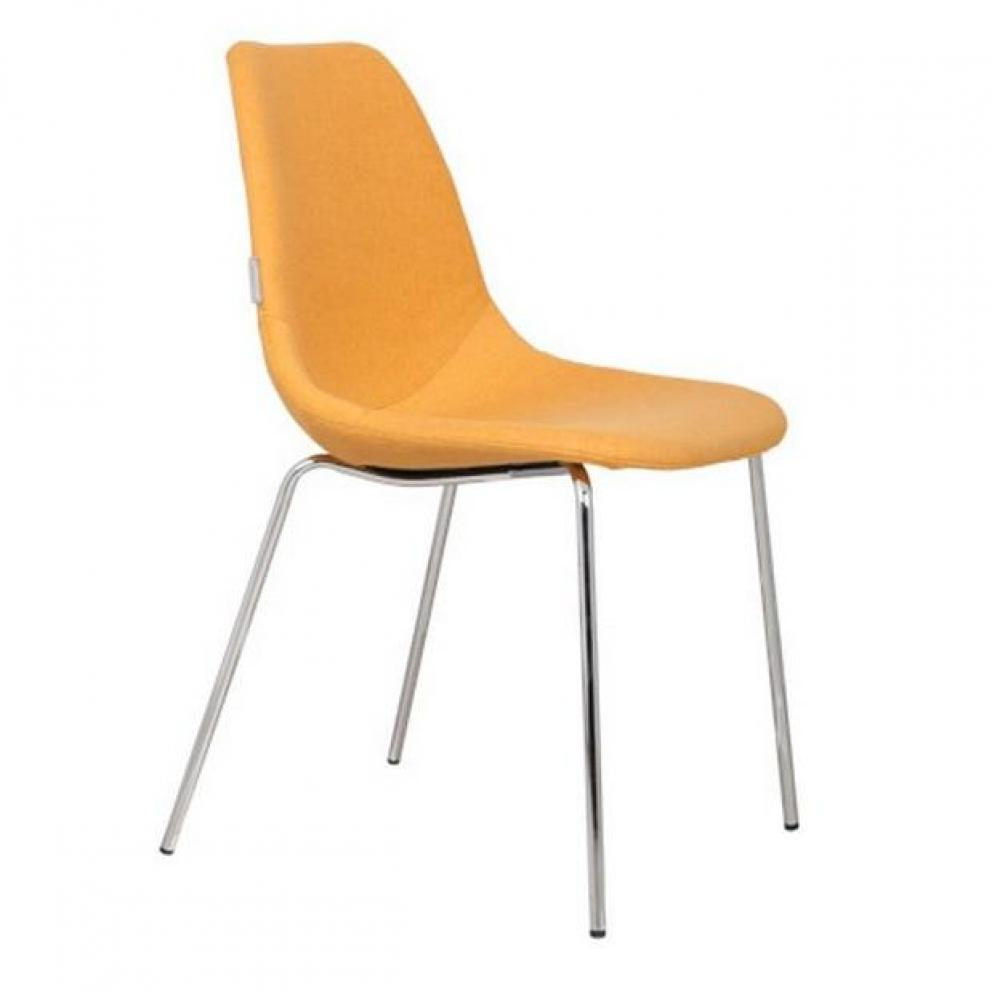 Chaises tables et chaises zuiver chaise fifteen jaune for Chaise zuiver