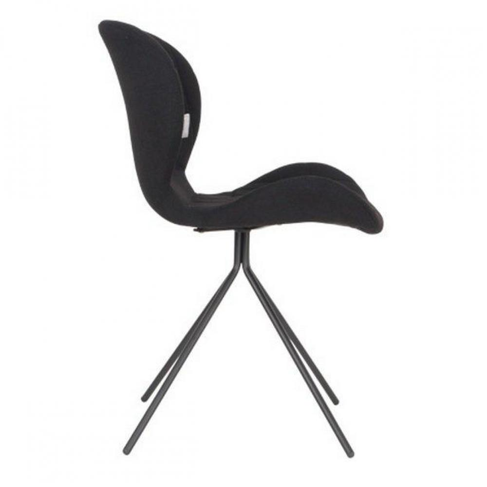 Chaises meubles et rangements zuiver chaises omg noire for Chaise zuiver omg