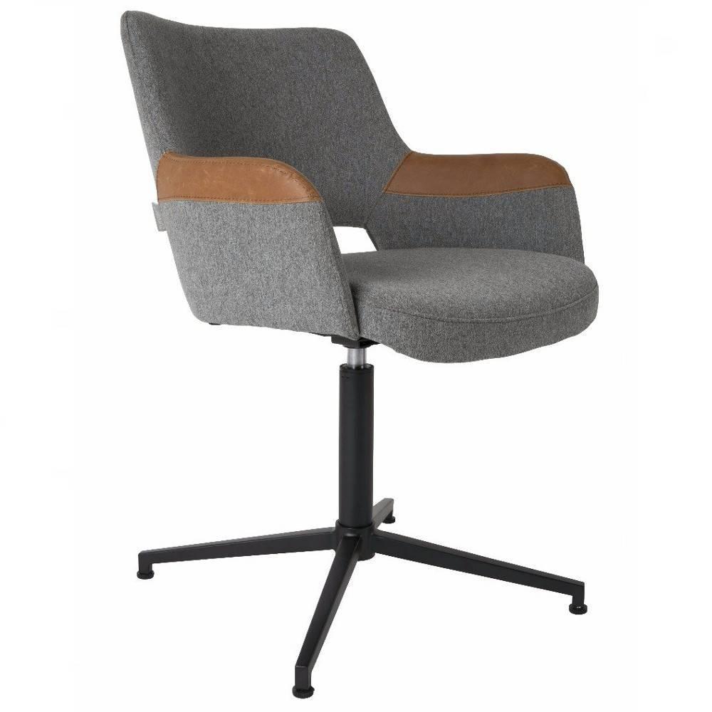 Fauteuils design canap s et convertibles zuiver chaise de bureau syl en tissu gris avec for Chaise zuiver