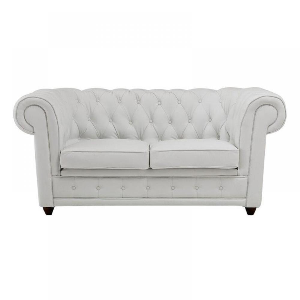 canapes chesterfield canapes et convertibles canape With canapé chesterfield cuir blanc 2 places