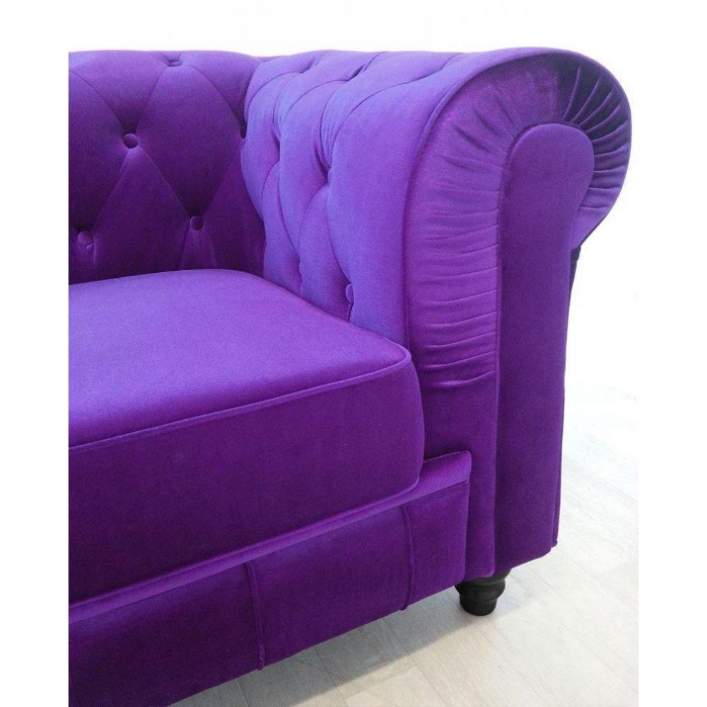 canap s fixes canap s et convertibles canap fixe chesterfield royal 3 places velours violet. Black Bedroom Furniture Sets. Home Design Ideas