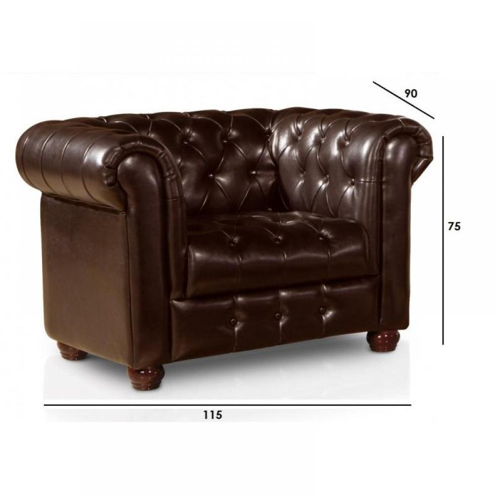 Canap s chesterfield canap s et convertibles fauteuil chesterfield vintage - Fauteuil chesterfield cuir marron ...