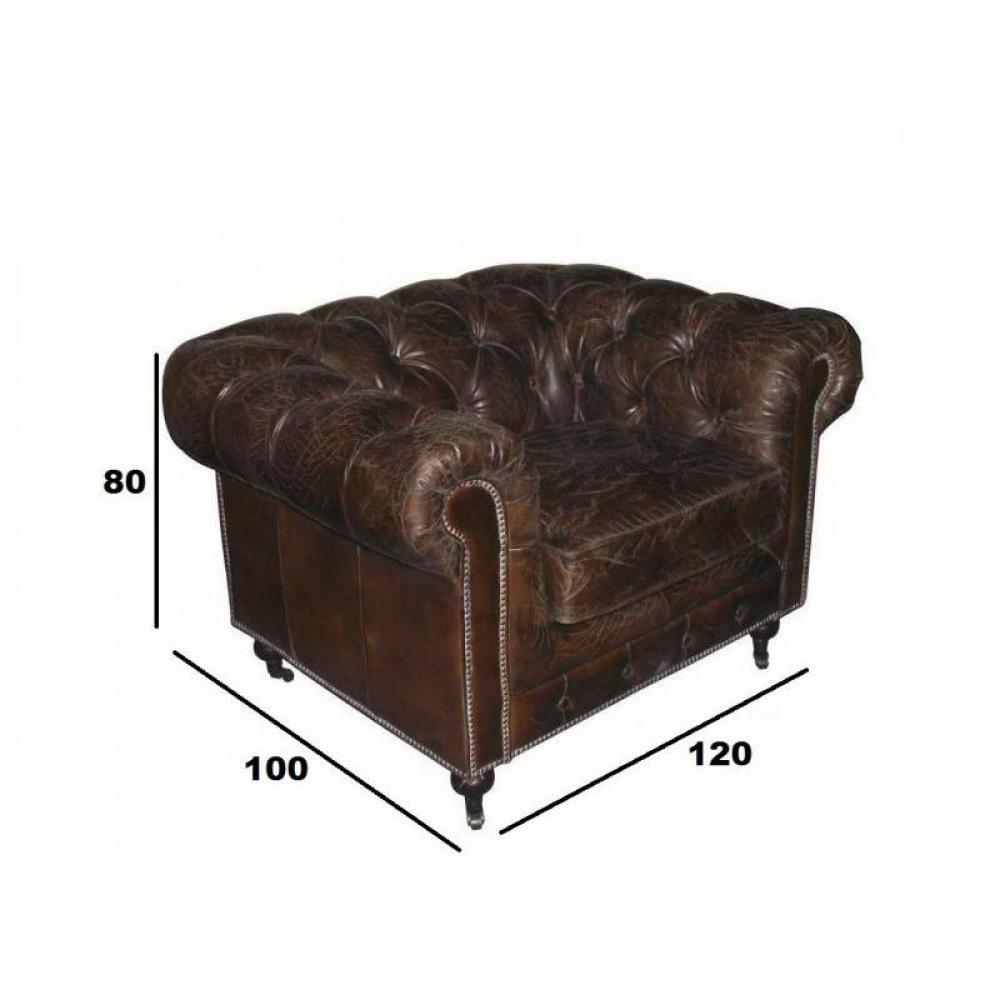 fauteuils chesterfield fauteuils et poufs fauteuil fixe xl chesterfield v ritable cuir vintage. Black Bedroom Furniture Sets. Home Design Ideas