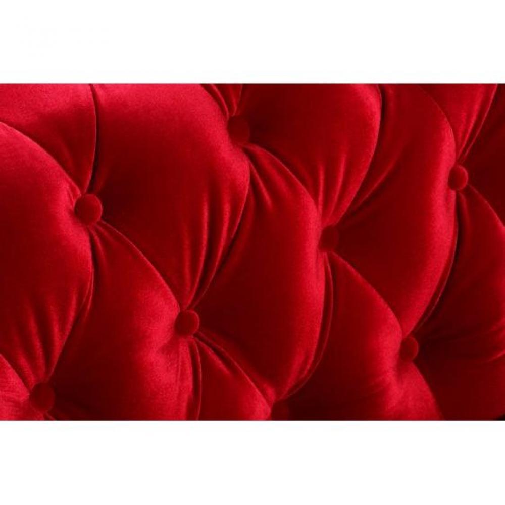 Fauteuils et poufs canap s syst me rapido fauteuil chesterfield deluxe en v - Fauteuil capitonne rouge ...