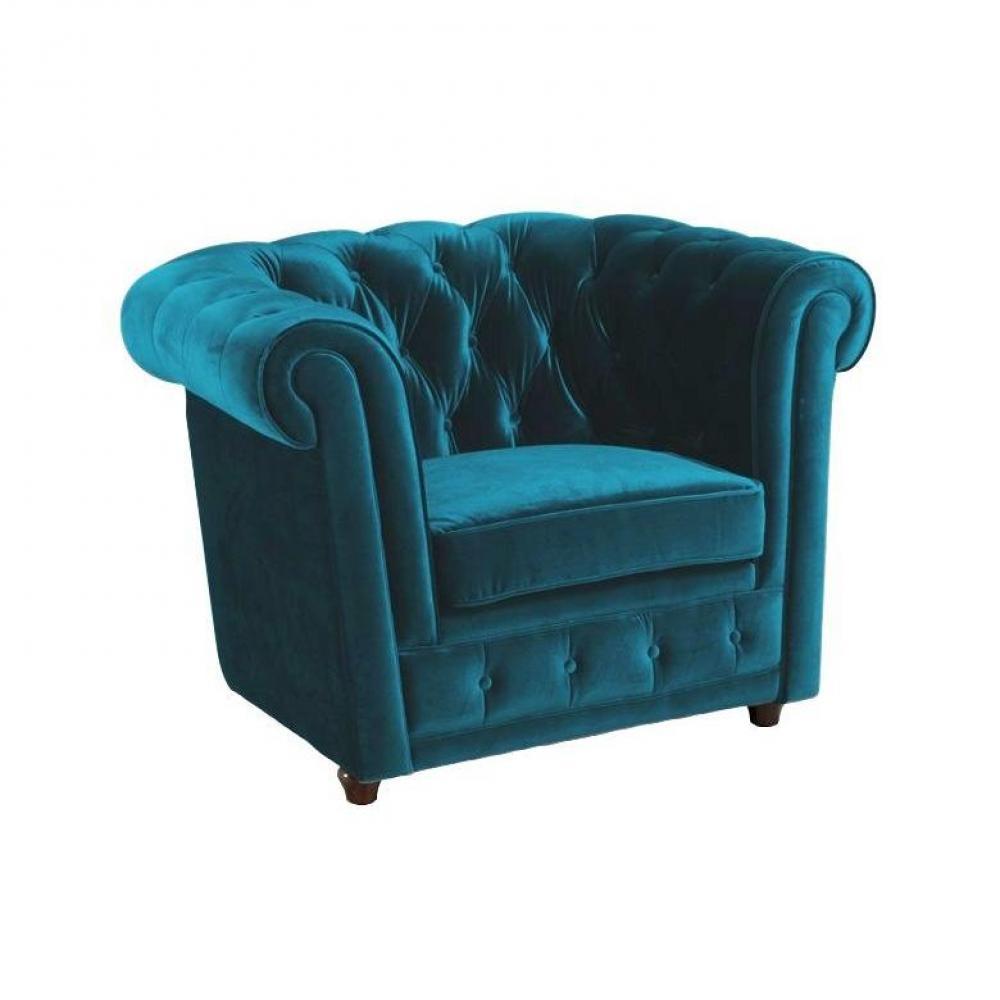 Turquoise fauteuil fauteuil 2017 - Leer capitonne ...