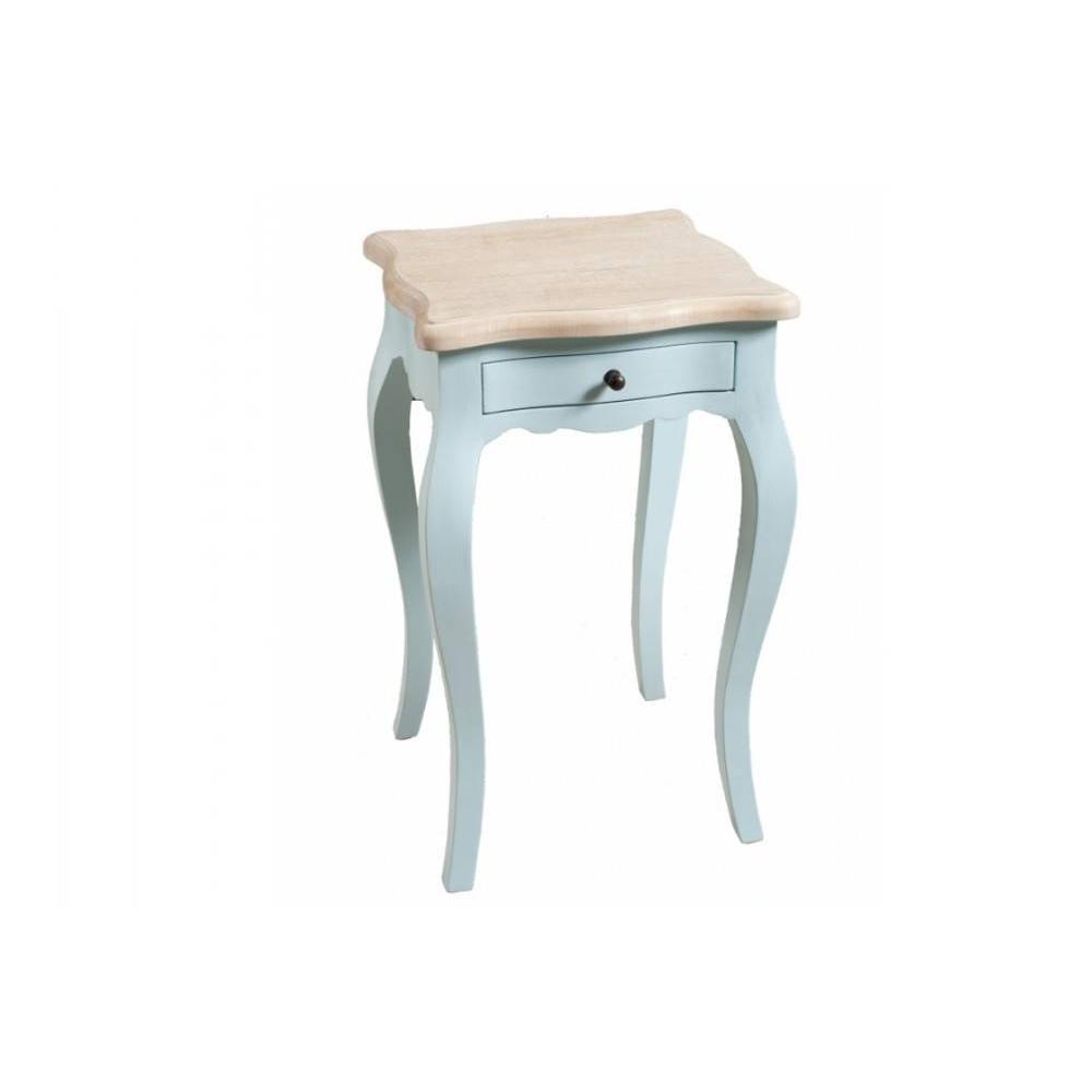 chevets meubles et rangements chevet baroque 1 tiroir geneve bleu ciel en manguier inside75. Black Bedroom Furniture Sets. Home Design Ideas