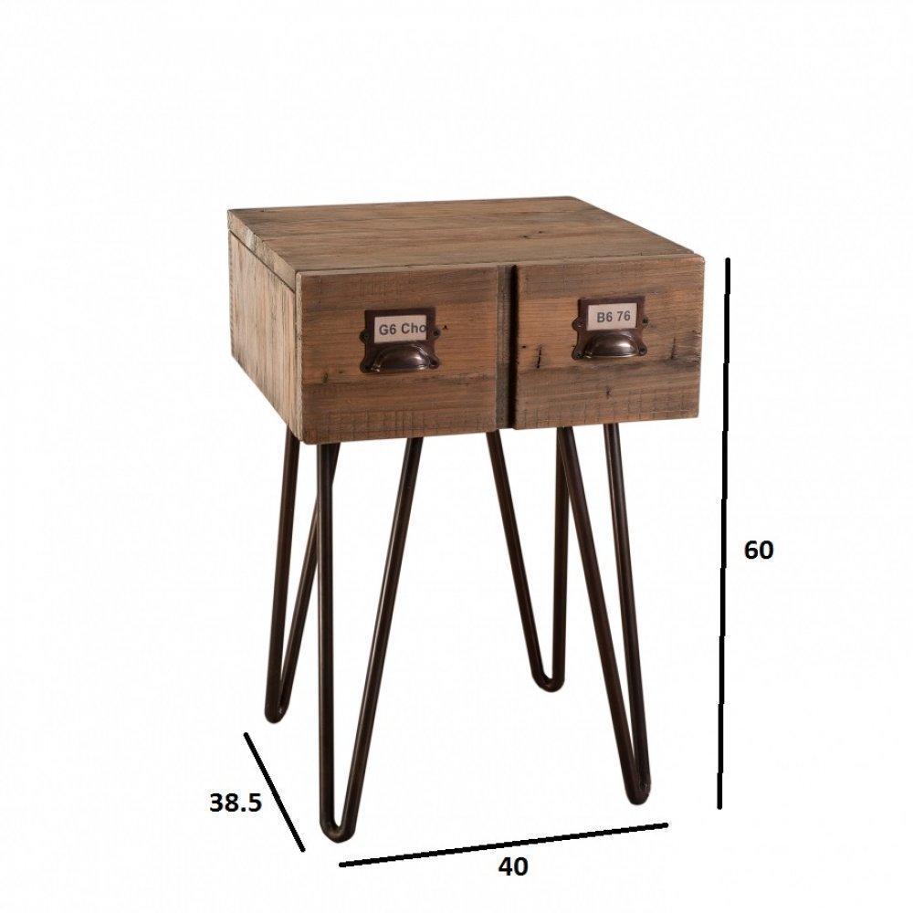 Chevets meubles et rangements chevet industriel octave 1 for Chevet industriel
