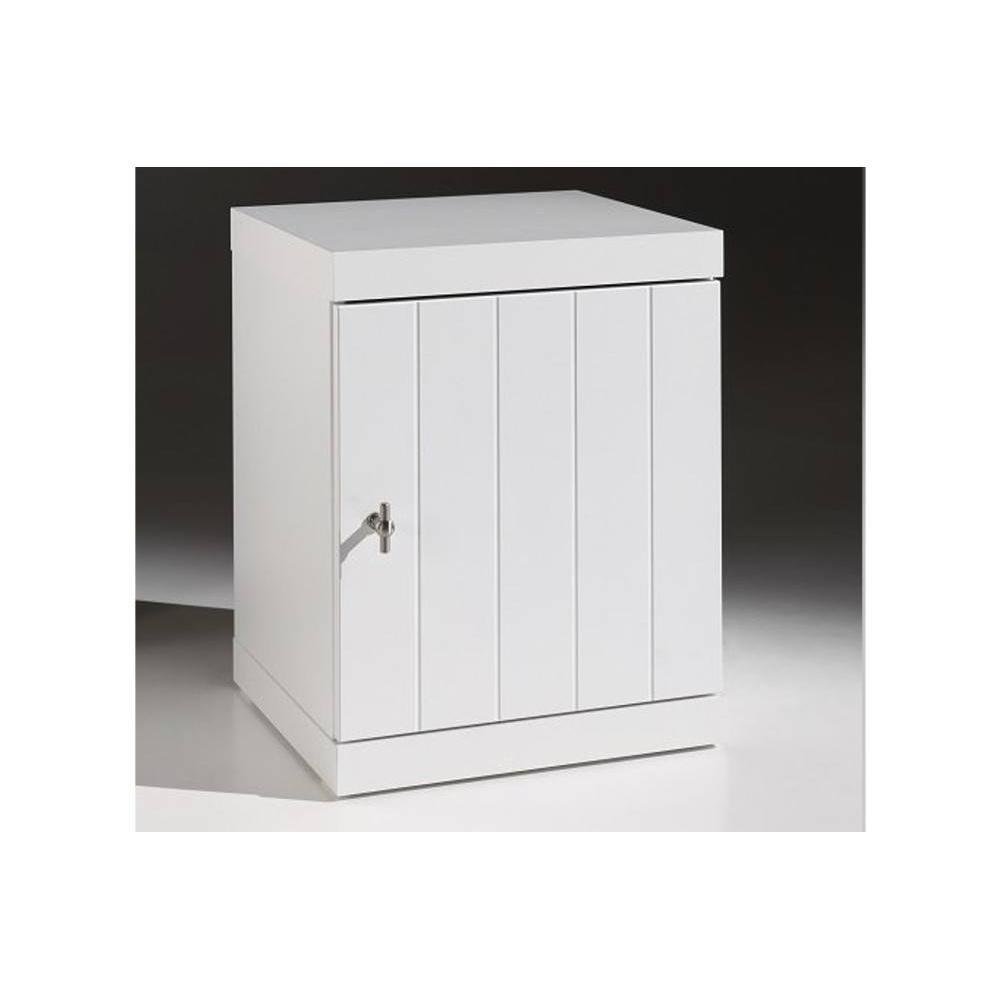 chevets meubles et rangements chevet robin design blanc 1 porte inside75. Black Bedroom Furniture Sets. Home Design Ideas