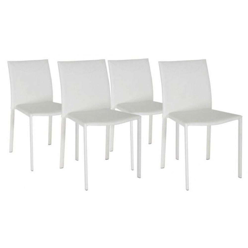 Chaises tables et chaises lot de 4 chaises empilables chicago blanches fa o - Chaises empilables design ...